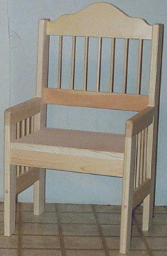Dowel Child Chair With Arms