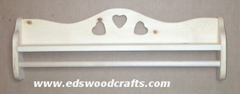 27'' Heart Towel Shelf